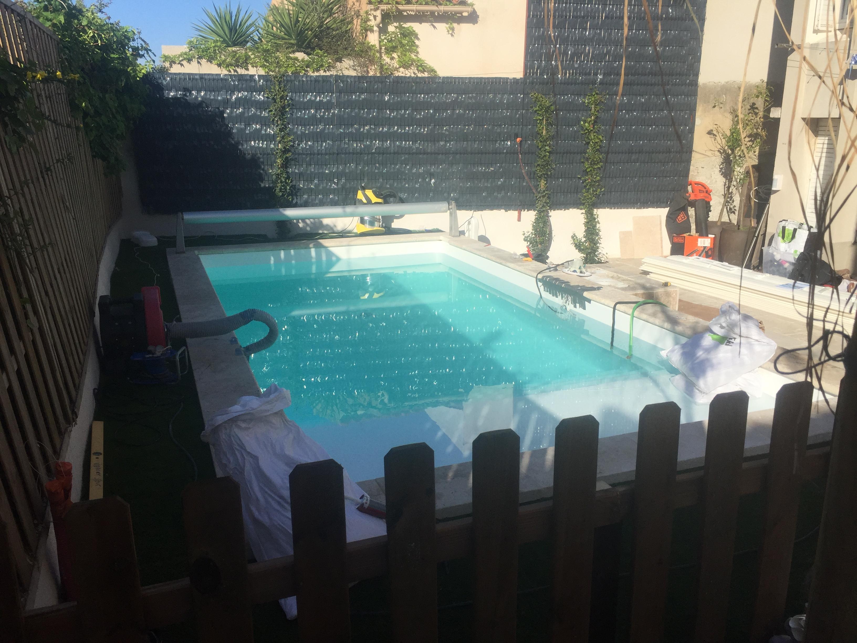 Réalisation d'une piscine de 6 * 3 à Marseille